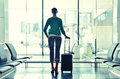 Girl At The Airport Royalty Free Stock Image - 37810086