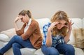 Furious Mother Arguing With Her teenage Daughter Stock Images - 37817784