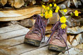 Old Hiking Boots Royalty Free Stock Photography - 37844167