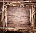 Ears Of Wheat Made As Frame. Royalty Free Stock Photography - 37846317