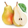 Pears With Slice Isolated Royalty Free Stock Photo - 37846855