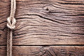 Sailor S Knot Over Old Wood. Stock Photos - 37848383