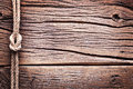 Sailor S Knot Over Old Wood. Royalty Free Stock Photo - 37848415