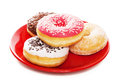 Plate Of Tasy Donuts Royalty Free Stock Photos - 37848808