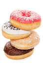 Tasty Donuts On White Background Royalty Free Stock Photography - 37848817