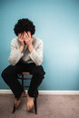 Sad Man Sitting On A Chair Royalty Free Stock Photography - 37850127