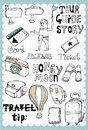 Hand Drawn Travel Set 03 Royalty Free Stock Photography - 37850647