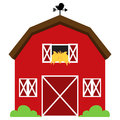 Cute Red Vector Barn Royalty Free Stock Images - 37857799