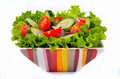 Salad With Vegetables And Greens Royalty Free Stock Photography - 37860307