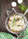 Rice With  Mixed Vegetables In Pan Royalty Free Stock Photos - 37861148