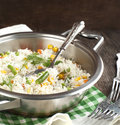 Rice With  Mixed Vegetables In Pan Stock Image - 37861151