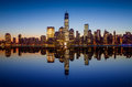 Manhattan Skyline With The One World Trade Center Building At Tw Stock Photography - 37861662
