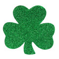 Glitter Shamrock Clover Isolated On White. St. Patrick S Day. Royalty Free Stock Photography - 37869927