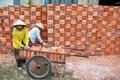 Vietnamese Women Working In Brickworks Royalty Free Stock Photography - 37870797