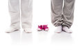 Legs Of A Mother And A Father And Small Child S Shoes Royalty Free Stock Images - 37876269