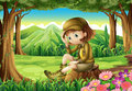 A Young Explorer At The Forest Royalty Free Stock Photos - 37891278