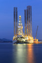 Jack Up Oil Drilling Rig In The Shipyard Royalty Free Stock Photo - 37895205