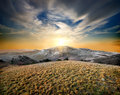 Mountains And Dry Grass Stock Photography - 37908652