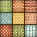 Vintage Summer Vector Seamless Patterns (with Royalty Free Stock Photo - 37913805