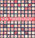 Fashionable Vintage Vector Seamless Patterns Royalty Free Stock Photography - 37914047