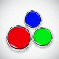White Background With Small Circles And Three Buttons Stock Photos - 37916113