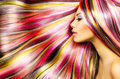 Girl With Colorful Dyed Hair Stock Photo - 37916910