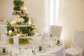 Beautiful Table Set  For Green Wedding Or Event Party, Indoors, Stock Photo - 37926290