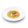 Hot Tasty Healthy Soup With Fish And Vegetables Stock Images - 37933834