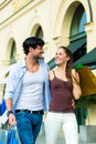 Couple Shopping And Spending Money In City Royalty Free Stock Photos - 37934498