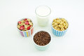 Milk And Cereal Flakes For Breakfast Royalty Free Stock Photo - 37936875