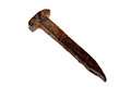 Very Old And Rusty Railroad Spike Royalty Free Stock Photo - 37939475