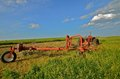 Tractor And Rake Parked In Hay Field Stock Image - 37939801