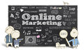 Online Marketing With Business Men Royalty Free Stock Images - 37943619