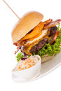 Delicious Egg And Bacon Cheeseburger Stock Image - 37943691