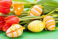 Colourful Red Easter Still Life Royalty Free Stock Photography - 37947977