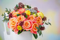 Closeup Of Delicate Flower Bouquet Royalty Free Stock Photography - 37958847