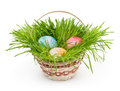 Easter Basket Isolated On White Stock Photos - 37966803