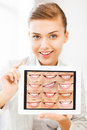 Female Doctor With Tablet Pc And Smiles Royalty Free Stock Image - 37967346