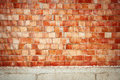 Wall Of Red Blocks Stock Image - 37970651