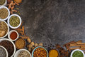Spices Used In Cooking - Space For Text Stock Images - 37971704
