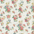 Vintage Rose Floral Wallpaper Shabby Chic Royalty Free Stock Photo - 37988075