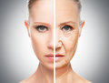 Concept Of Aging And Skin Care Royalty Free Stock Image - 38014676