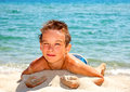 Boy On A Beach Stock Images - 38050924