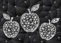 Abstract Triangle Apples With Background Stock Photo - 38051710
