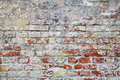 Old Red Brick Wall With Cracked Concrete Background Texture Royalty Free Stock Image - 38065416