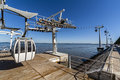 Aerial Tramway Park Of Nations Lisbon Royalty Free Stock Image - 38068596