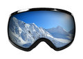 Ski Goggles With Reflection Of Mountains Isolated On White Stock Photo - 38071290