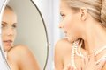 Woman With Pearl Necklace Royalty Free Stock Photography - 38073277