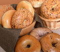 Variety Of Different Types Of Bagels Stock Photography - 38081222