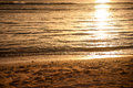 Sunset At Coast Of The Pacific Sea Royalty Free Stock Image - 38086776